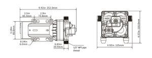 elektrische 55psi Membranpumpe mit justierbarem Druckschalter