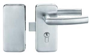 Vidro corrediço de porta de vidro duplo bloqueio em aço inoxidável (FS-222)