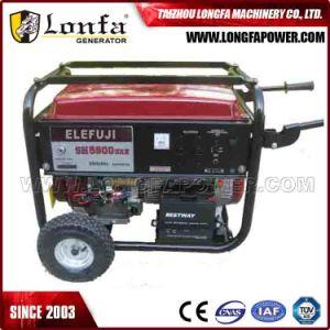 Fabrik-Angebot Soem 1.5kVA dem Generator zu des Benzin-6.5kVA (mit Griffen und Rädern)