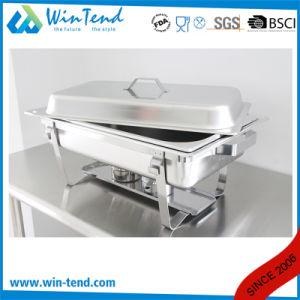 Venda a quente de aço inoxidável eletrolítico Buffet económica 433 Amolgamento prato com suporte de Combustível