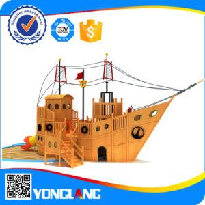 Terrain de jeux extérieur de l'équipement pour la vente de navires en bois