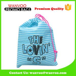 Coulisse de PVC en polyester étanche portable sac cadeau pour l'emballage