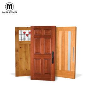 China Factory exterior madera Teak Madera sólida Puerta delantera