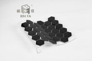 Tegels Keuken Honingraat : Tegel van het mozaïek van de honingraat van mm de zwarte