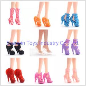 Muñeca de plástico de 40 pares de zapatos de tacón para muñeca 1/6