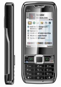 Kimfly Mini-E71 cartão duplo SIM Telefone móvel do televisor