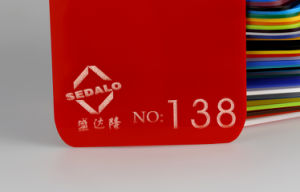 浙江Sedaloのアクリルの工場農産物の赤はアクリルシートを投げた