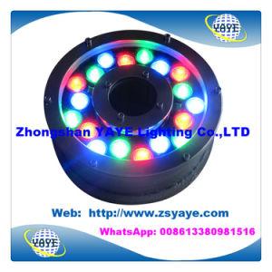 Indicatore luminoso subacqueo caldo IP68 del raggruppamento della fontana Light/18W RGB LED di vendita 18W RGB LED Light/18W RGB LED di Yaye