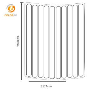 Halbkreis-bunter feuerfester und schalldichter Polyester-Faser-Partition-Oberflächenbildschirm