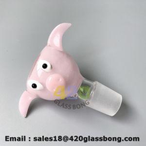 Poco Rosa cerdos Recipientes de cristal para la maleza y cristal de tabaco de pipa de agua