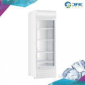 Solo venta al por menor de la puerta de vidrio pantalla bebida vertical refrigerador