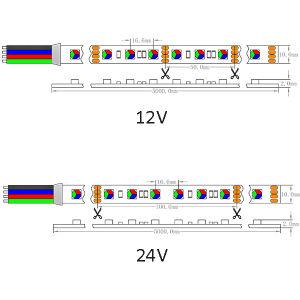 UL SMD ce5060 lámina flexible de alta potencia LED 60/M de luz LED IP66.