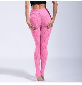 L'yoga personalizzata di forma fisica del jacquard ansima le ghette sexy di sport delle donne