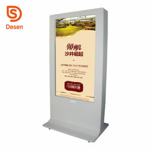 Trépied de sol 43''49''55'' 65 haute luminosité à l'extérieur de la signalisation numérique vertical Totem WiFi LCD tactile écran tactile Kiosque d'affichage de publicité avec Android