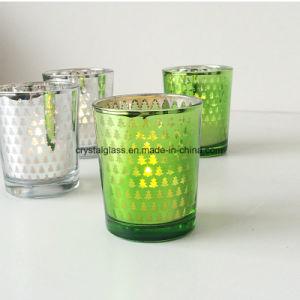 Personalizar a impressão castiçal Copo de vidro