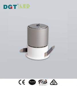 Ficha preta de 8 W LED Unti-Glare COB ribalta com marcação RoHS