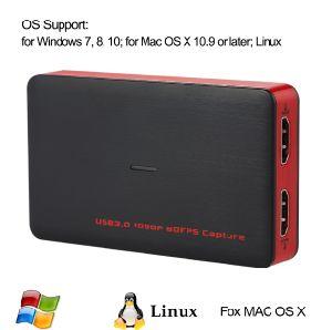 Jogo de captura de vídeo HDMI Gravador de Vídeo HD Dispositivo Caixa 1080P 60fps Full HD para PS4 um xBox PS3/360 Wii U Transmissões ao Vivo