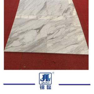Het opgepoetste Witte Marmer van Volakas Italië voor de Bouw van de BinnenTegels van de Tegel en van de Plak/van de Bevloering en van de Muur/de Bekleding van de Muur/de Vensterbank van het Venster en de TegenTrede van de Tegel van de Bovenkant/van de Badkamers