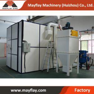 Mayflay automática de piezas de metal de gran tamaño Sala de chorro de arena