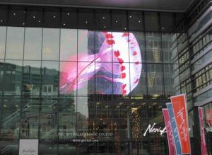 P3.91, P7.81 pleine couleur Affichage LED écran en verre transparent pour l'extérieur de la publicité à l'intérieur