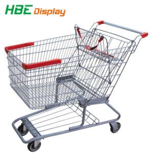 Amerikanischer Art-Großverkauf-Metallsupermarkt-Lebensmittelgeschäft-Einkaufswagen