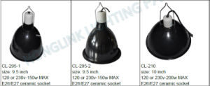 UL VDE Reptile le collier de la lampe témoin de chauffage Pet Lampe chauffage infrarouge avec de grandes profonde Fixture Dome