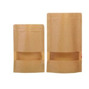 Alimentos Bolsa Ziplock personalizada bolsa herméticamente el papel de estraza café, té Snacks bolsas de embalaje