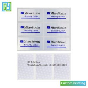 Sello de seguridad personalizada Tamper Evident anular la garantía de la etiqueta de código de barras adhesivas de embalaje de la impresión de etiquetas