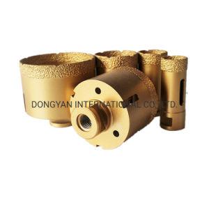 De vacuüm Gesoldeerde Bit van de Boor van de Kern van de Zaag van het Gat van de Diamant voor het Boren van het Ceramische Materiaal van de Steen van het Porselein