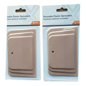 4 5 6 pulgadas 3pcs Esparcidor de rasqueta plástico
