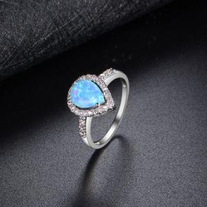 Последней стиле ювелирные изделия с золотым покрытием белого цвета Имитация камня опаловый кольцо