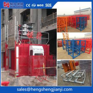 Grúa de construcción ascensor jaula doble por Hsjj