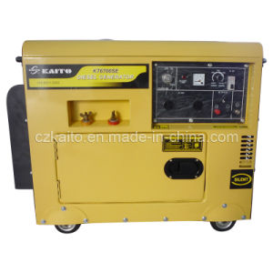 O gerador a diesel com a solda (KT6000costurar)