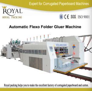 Высокоскоростное полноавтоматическое печатание прорезая (с Die-cutting) машину с встроенным скоросшивателем Gluer коробки
