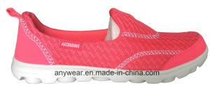 Glissade de dames sur les chaussures de marche du confort des femmes (515-5656)