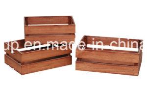 자연적인 목제 유행 큰 크기 저장 나무 상자