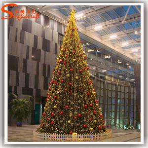 Árvores de Natal PE artificial luz LED no comércio por grosso