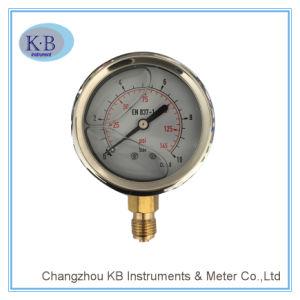 Calibrador de Presión Llenado Líquido del Acero Inoxidable del Manómetro