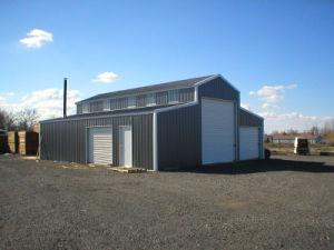 鉄骨構造の農場の赤い納屋(KXD-SSB1179)