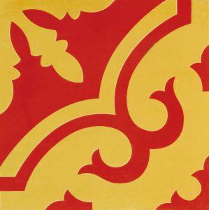 Rood Indisch Verglaasd Porselein Tile20*20cm