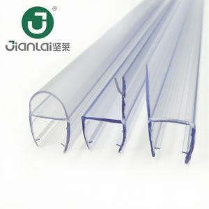 De forma F Plástico durable Tira de sellado de la Puerta de ducha
