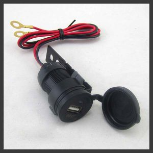 зарядное устройство USB мотоциклов водонепроницаемый разъем кабеля для установки на панели управления