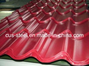De Plaat van het Dak van het Staal van het trapezoïde/de Verglaasde Gekleurde Tegel van het Dakwerk van het Metaal