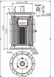 700kw 100rpm de Verticale Permanente Generator Met lage snelheid van de Magneet