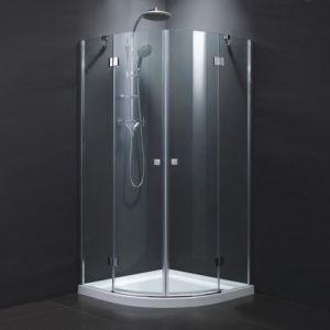 Quadrant-Aluminiumfiberglas-ausgeglichenes Glas, das Dusche-Tür (TL-409, schiebt)