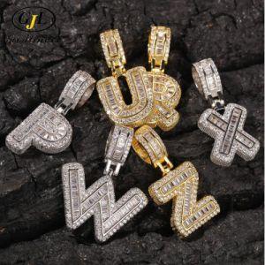 18K jóias de ouro Letra de Hip Hop Pingentes Colar Jóias