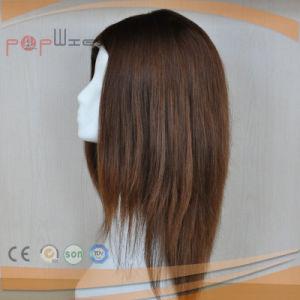 バージンの毛のブラウンカラー絹の上の女性のかつら(PPG-l-01290)