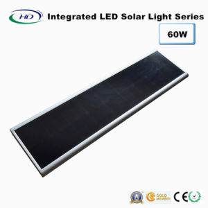 60W PIRセンサー統合されたLEDの太陽街灯