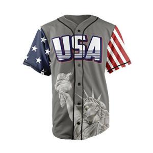 2019 Botão Barata Basebol Personalizado Jersey Logotipo personalizado Baseball beisebol EUA uniforme