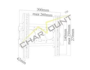 17  - 42 를 위한 텔레비젼 마운트 왔다갔다, 200X200mm 미끄러지는 텔레비젼 벽 마운트 (CT-PLB-710A)